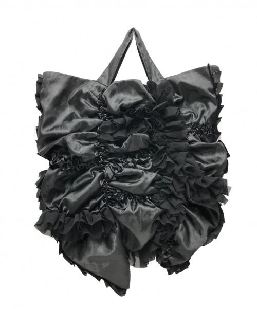 COMME des GARCONS(コムデギャルソン)COMME des GARCONS (コムデギャルソン) フリルトートバッグ ブラック サイズ:下記参照 GB-K204の古着・服飾アイテム