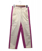 COMME des GARCONS Homme Plus(コムデギャルソンオムプリュス)の古着「切替パンツ」|ピンク×アイボリー