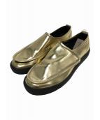 COMME des GARCONS Homme Plus(コムデギャルソンオムプリュス)の古着「ベルクロスリッポン」|ゴールド