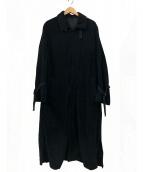bukht(ブフト)の古着「フライフロントロングコート」 ブラック