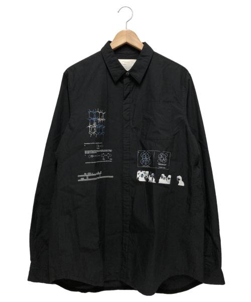 UNDERCOVER(アンダーカバー)UNDERCOVER (アンダーカバー) プリントシャツ ブラック サイズ:3 10AW 参考定価28,000+TAX F4407の古着・服飾アイテム