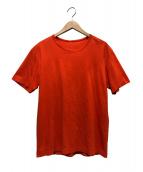 ISSEY MIYAKE MEN(イッセイミヤケメン)の古着「クルーネックTシャツ」 オレンジ