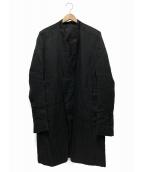 RICK OWENS(リックオウエンス)の古着「ノーカラーコート」 ブラック