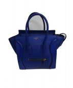 CELINE (セリーヌ) ハンドバッグ ネイビー ラゲージマイクロショッパー 定価¥385.000+TAX