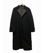 COMME des GARCONS HOMME(コムデギャルソンオム)の古着「チェスターコート」|ブラック