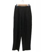 Y's for men(ワイズフォーメン)の古着「ストライプパンツ」|ブラック