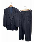 COMME des GARCONS HOMME(コムデギャルソンオム)の古着「セットアップスーツ」 ネイビー
