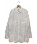 Yohji Yamamoto pour homme(ヨウジヤマモトプールオム)の古着「環縫いブロードR-右胸のみ切替え環縫いシャツ」|ホワイト