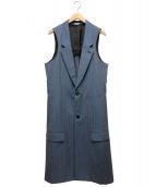 COMME des GARCONS Homme Plus(コムデギャルソンオムプリュス)の古着「ラメロングベスト」|ブルー