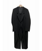 COMME des GARCONS Homme Plus(コムデギャルソンオムプリュス)の古着「燕尾ロングジャケット」|ブラック