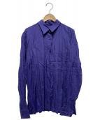 ISSEY MIYAKE(イッセイミヤケ)の古着「シワ加工シャツ」|パープル