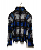 ISSEY MIYAKE(イッセイミヤケ)の古着「総柄シワ加工シャツ」|ブルー