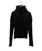 ISSEY MIYAKE(イッセイミヤケ)の古着「シワ加工シャツ」|ブラック