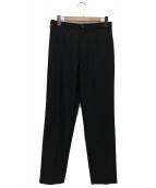 Y's for men(ワイズフォーメン)の古着「ウールギャバスラックス」|ブラック