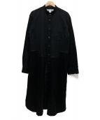 COMME des GARCONS SHIRT(コムデギャルソンシャツ)の古着「再構築ロングシャツ」|ブラック