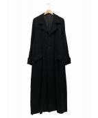 Y'S bis(ワイズビス)の古着「ロングコート」|ブラック