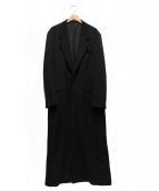Yohji Yamamoto pour homme(ヨウジヤマモトプールオム)の古着「ウールギャバ5Bロングコート」|ブラック