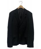 YohjiYamamoto pour homme(ヨウジヤマモトプールオム)の古着「ウールギャバジャケット」 ブラック