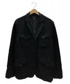 COMME des GARCONS HOMME(コムデギャルソンオム)の古着「ウール縮絨ジャケット」|ブラック