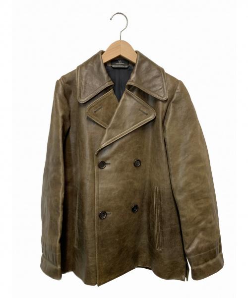 Ys(ワイズ)Ys (ワイズ) ピックレザージャケット ブラウン サイズ:L 96AW YG-J07-700の古着・服飾アイテム