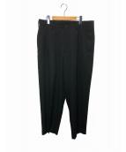 YohjiYamamoto pour homme(ヨウジヤマモトプールオム)の古着「G2タックパンツ」 ブラック