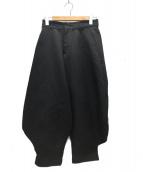 COMME des GARCONS(コムデギャルソン)の古着「ポリ縮寅壱パンツ」|ブラック