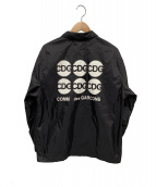 GOOD DESIGN SHOP COMME des GARCONS(グッドデザインショップ コムデギャルソン)の古着「コーチジャケット」|ブラック