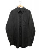 YOHJI YAMAMOTO COSTUME DHOMME(ヨウジヤマモトコスチュームドオム)の古着「レギュラーシャツ」|ブラック