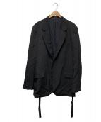 YohjiYamamoto pour homme(ヨウジヤマモトプールオム)の古着「ウールギャバ2Bジャケット」|ブラック