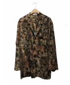 ISSEY MIYAKE MEN(イッセイミヤケメン)の古着「タイダイ柄ジャージーテーラードジャケット」 ブラウン