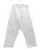 O project(オープロジェクト)の古着「ワイドフィットパッチポケットパンツ」|ホワイト