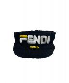 FENDI×FILA(フェンディ×フィラ)の古着「ニットサンバイザー」|ブラック