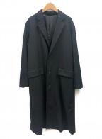 ALLEGE(アレッジ)の古着「ギャバジンチェスターコート」 ブラック