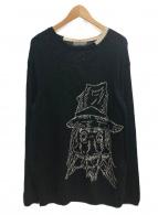 YohjiYamamoto pour homme(ヨウジヤマモトプールオム)の古着「丸首朝倉インターシャ」|ブラック