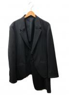YohjiYamamoto pour homme(ヨウジヤマモトプールオム)の古着「レイヤードウールギャバジン2Bテーラードジャケット」|ブラック
