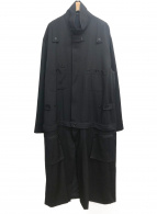 YohjiYamamoto pour homme(ヨウジヤマモトプールオム)の古着「ツナギドレスファスナーギャバコート」|ブラック