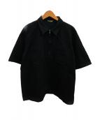 AURALEE(オーラリー)の古着「ポロシャツ」 ブラック