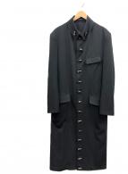 YohjiYamamoto pour homme(ヨウジヤマモトプールオム)の古着「トグロデザインウールギャバロングコート」|ブラック