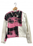 Calvin Klein(カルバンクライン)の古着「デニムジャケット」|ホワイト