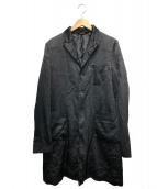BLACK COMME des GARCONS(ブラックコムデギャルソン)の古着「ジャガードポリエステルジャケット」|ブラック