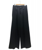 sulvam(サルバム)の古着「GABARDINE WIDE PANTS」|ブラック