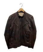 ISAMU KATAYAMA BACKLASH(イサムカタヤマ バックラッシュ)の古着「イタリアンラムレレザージャケット」|ブラウン