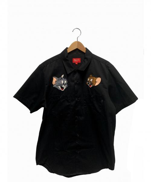 Supreme(シュプリーム)Supreme (シュプリーム) パッチシャツ ブラック サイズ:M トムとジェリーの古着・服飾アイテム