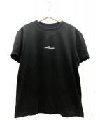 Martin Margiela 10(マルタンマルジェラ10)の古着「ミニロゴ刺繍Tシャツ」|ブラック