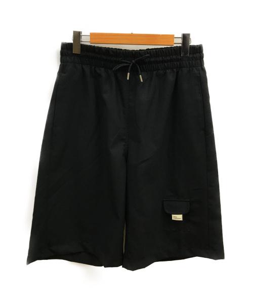 DROLE DE MONSIEUR(ドロール ド ムッシュ)DROLE DE MONSIEUR (ドロール ド ムッシュ) ワイドハーフパンツ ブラック サイズ:Mの古着・服飾アイテム