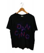 ()の古着「スパンコールロゴTシャツ」|ブラック
