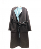 EMMEL REFINES(エメル リファインズ)の古着「リバーシブルコート」|スカイブルーブラウン