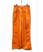 LANDLORD(ランドロード)の古着「ネオンナイロンワイドパンツ」|オレンジ