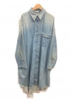 MM6(エムエムシックス)の古着「オーバーサイズデニムシャツワンピース」|インディゴ