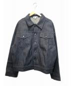 LANDLORD(ランドロード)の古着「リジットデニムジャケット」 ブラック